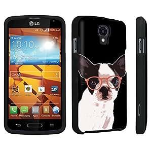 DuroCase ? LG Volt LS740 / F90 Hard Case Black - (Bulldog Glasses)