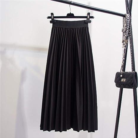 GDNTCJKY Faldas para Mujer Faldas Moda Elástico De Cintura Alta ...