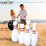 Kleeger Giant Bowling Game Set: Inflatable Bowling Ball and Pins - Outdoor & Indoor Fun For Children And Adults - Includes Air Pump