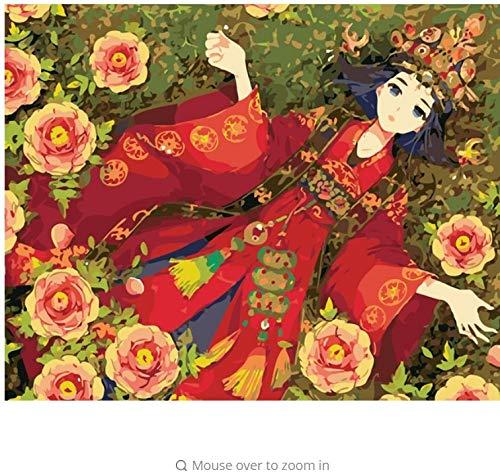 LIWEIXKY Malerei Rosa Braut Bilder Auf Auf Auf Leinwand DIY Digitales Ölgemälde by Zahlen Hause Hochzeitsdekoration Einzigartiges Geschenk - Mit Rahmen - 40x50cm B07PR58WDJ | Günstigen Preis  3e8ba7