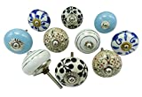 Vintage Kitchen Drawer Knobs Hand Painted Ceramic Cabinet Cupboard Pulls
