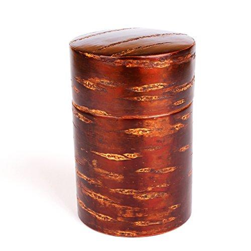 Wooden Tea Caddy (Kabazaiku - Japanese Cherry Bark Tea Caddy)