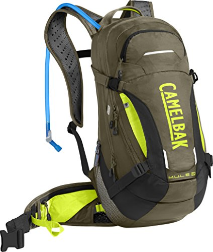 CamelBak M.U.L.E. LR 15 100 oz Hydration Pack, Burnt Olive/Lime Punch ()