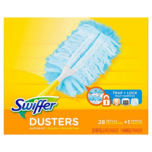 (Swiffer Dusters Dusting Kit, 1 Handle & 28 Duster Swiffer Refills)