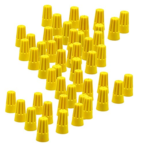 Baoblaze 100 Pieces 11mm Twist-on Wire Connector Splice: Electronics