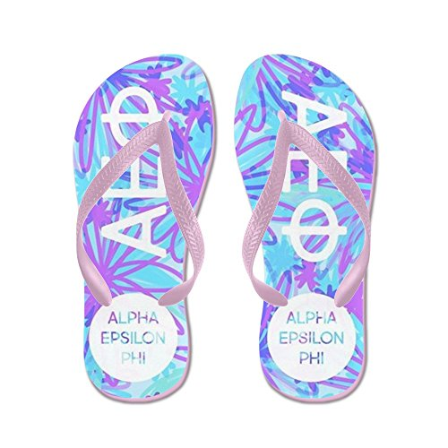 Cafepress Alpha Epsilon Phi Tropical Violet - Tongs, Sandales String Drôle, Sandales De Plage Rose