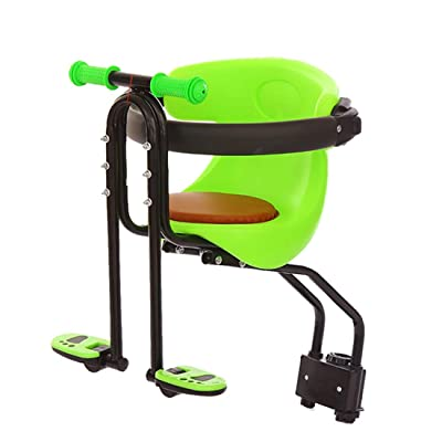 WOLFBUSH Bicycle Kids Front Baby Seat Bike Carrier 50KG Bearing Child Bike Seat with Handrail and Foot Pedals for Mountain Bikes, Road Bikes and Cruiser Bikes : Sports & Outdoors