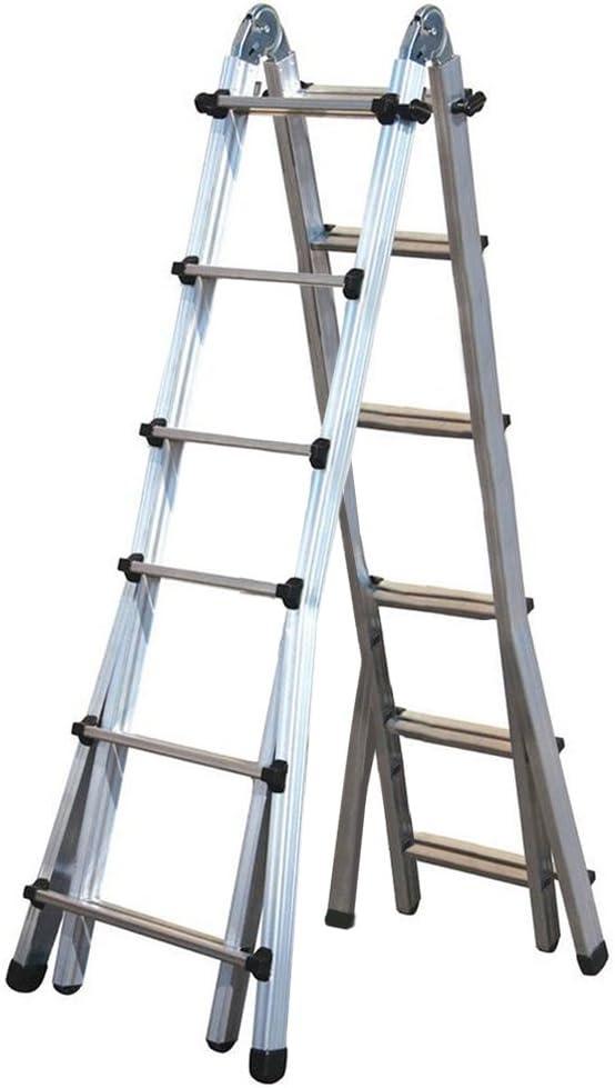 Escalera telescópica multiuso 6 + 6 peldaños, de aluminio, uso profesional, 146.607BB.: Amazon.es: Bricolaje y herramientas