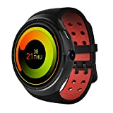 Docooler THOR Watch Phone Heart Rate Smart Bluetooth Sport GPS 3G/2G 1GB RAM + 16GB ROM Android 5.1 Metal Frame MP3 MP4 WiFi 2MP Camera WCDMA MTK6580 1.3GHz CPU 1.4'' 400400P Touch Screen Black