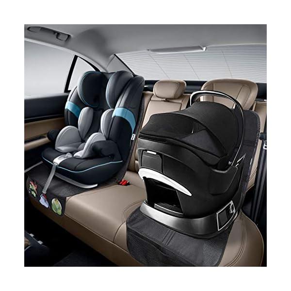 Rovtop 2 Pack Proteggi Sedile Auto, Coprisedile Bambini,per Proteggere la Tappezzeria in Pelle del Veicolo,Adatto per… 7