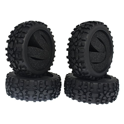 4Pieces Rubber RC 1/8 Scale Off Road Buggy Tires With Foam Inserts OD:116mm ID:80mm Width:42mm For Redcat HSP Off Road (1 8 Scale Buggy)
