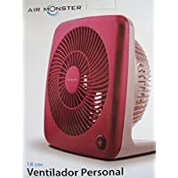 0.28 CFM Air Flow 7 2-Speed Portable Personal Box Electric Fan in Pink
