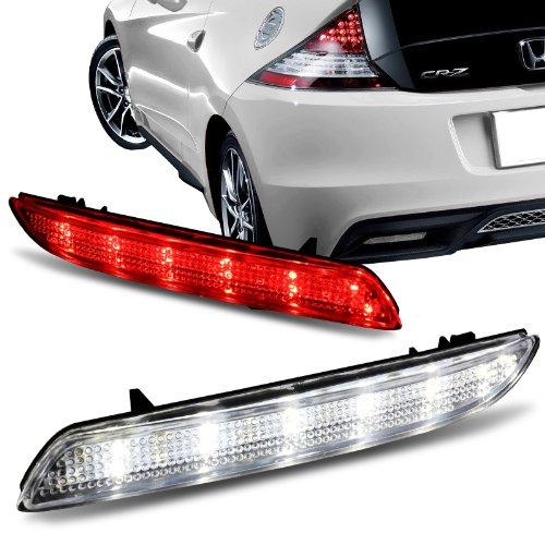 Acura TSX / Honda CR-V / Honda CR-Z / Honda Insight Clear Lens LED Rear Bumper Reflector Lights (Bumper Rear Light)