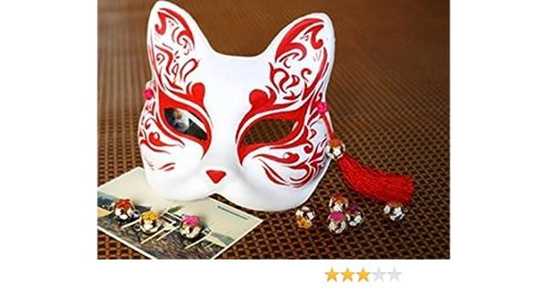 Mascara / mascara / Kamen (mascara del zorro rojo) su cara cosplay accesorios y herramientas, hecho a mano-fox: Amazon.es: Juguetes y juegos