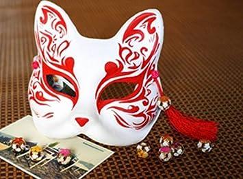 Mascara / mascara / Kamen (mascara del zorro rojo) su cara cosplay accesorios y