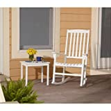 Solid Wood Garden Furniture Outdoor Patio Rocking Chair. Classy Garden Solid Hardwood Furniture for Your Gazebo or Porch. Put This Seat on Your Deck Lawn or in a Conservatory. The White Rocker with a Wide Back Will Ensure Ultimate Comfort. Made From Weatherproofed Wood.