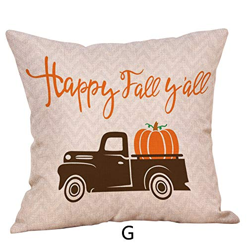 CHIDY Square Zipper Halloween Pumpkin Pillow Cases Linen Sofa Cushion Cover Home Decor