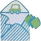 Gerber 4 Piece Hooded Towel and Washcloths Bath Set, Cars