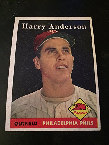 1958 Topps Baseball Harry Anderson Card  171 Good Shape  Philadelphia Phillies  Cincinnati Reds