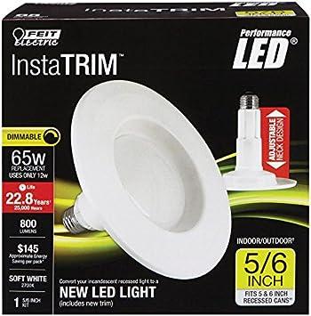Feit LEDR56//827 Led Retrofit Kit 5//6-Inch 120 Watt Equivalent 2 Pack