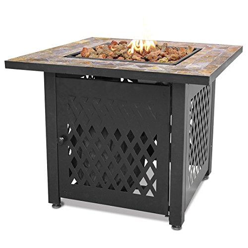 Endless Summer, GAD1429SP, Gas Outdoor Fireplace with Slate Mantel ()
