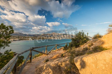 Panoramic View over albir en Alicante, Spain at Sunny Day. albir ...