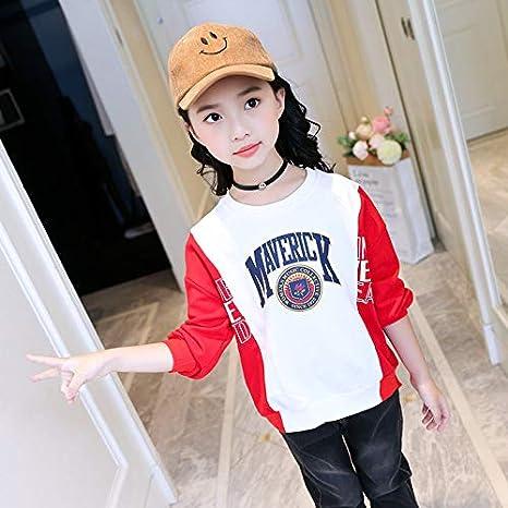 MV Childrens Clothing Girls Sweater Autumn Korean Matching Letters Foreign Shirt