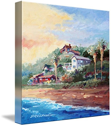 Imagekind Wall Art Print Entitled Cottages at Crystal Cove by Bill Drysdale | 8 x 8