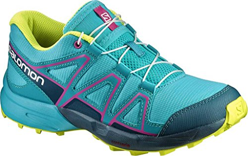 Salomon Speedcross J, Zapatillas de Trail Running Unisex Niños Varios colores (Ceramic/Reflecting Pond/Lime Punch)