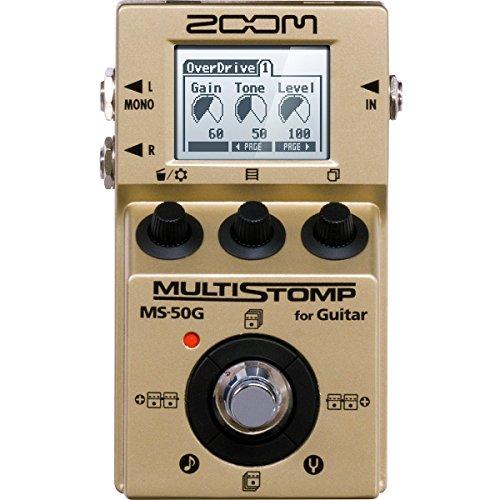 [해외] ZOOM/MS-50G-I MultiStomp Guitar Pedal Gold Limited