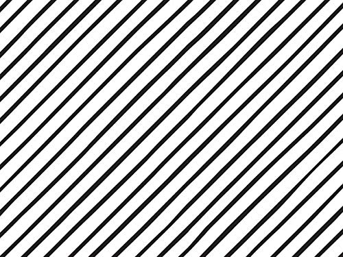Black & White Stripe Tissue Paper for Gift Wrapping - Classic Narrow Pinstripe on The Diagonal - 24 Large Sheets (20x30)