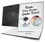 """make your own monopoly game - Blank Game Board Dry Erase Folding (18"""" x 18""""); Classic Black Cover"""