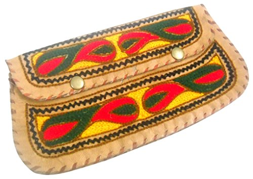 Multi Leather Camel Beautiful Hand Purse 100 Embroidered Handmade Color Pure 6xCSqA5w