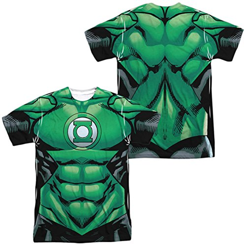 Green Lantern- Uniform Costume Tee (Front/Back) T-Shirt Size XL - Green Lantern Costume John Stewart