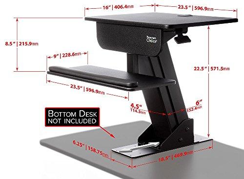 Prosumeru0027s Choice Adjustable Height Standing Desk Sit Stand Up Desk  Computer Workstation