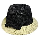 Kate Spade New York Women's Crochet Packable Cloche Hat Black/Natural Hat