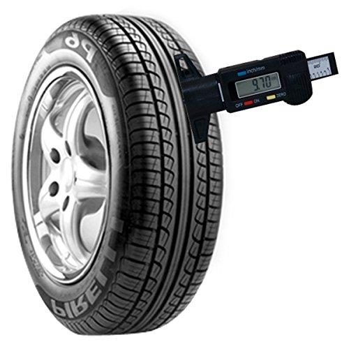 H88 Digital Tire Tread Depth Gauge Meter Measurer LCD Display Tyre Tread Brake Shoe Pad Wear Tire Tester Tread Checker for Cars Trucks SUV black 0-25mm by H88 (Image #2)