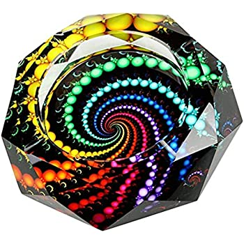 YANXUS Cigarette Ashtray Ash Holder Case-Creative Crystal Colorful Beads Cigarette Ashtray for Indoor or Outdoor Use Ash Holder for Smokers Desktop Smoking Ash Tray for Home Office Decoration