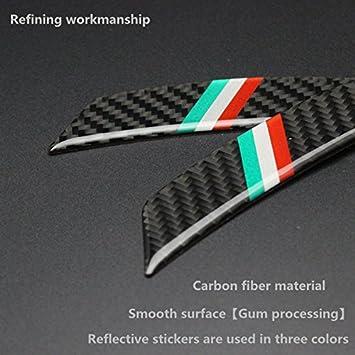 Biznon Juego de 4 pegatinas reflectantes de fibra de carbono para protección de cejas, anticolisión