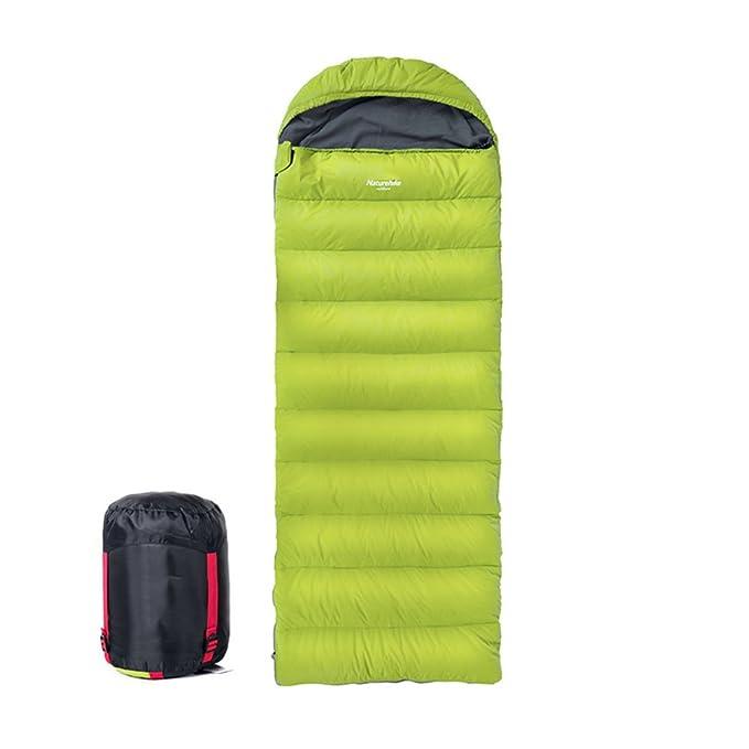 HM&DX Invierno Down Saco de Dormir Rectangular Adulto Tiempo Frío Ultraligero Impermeable Saco de Compresión Camping Hiker mochilero Viajar Actividades al ...