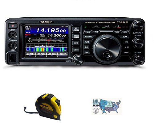Bundle - 3 Items - Includes Yausu FT-991A HF/50/140/430MHz All-Mode Field Gear Radio with the New Radiowavz Antenna Tape (2m - 30m) and HAM Guides Quick Reference Card ()
