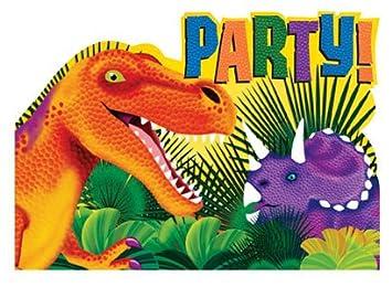 Dinosaur Party Invites Supplies 8 Amazoncouk Toys Games
