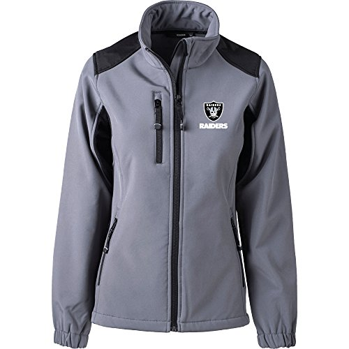 Oakland Raiders Polar Fleece (Dunbrooke Apparel NFL Oakland Raiders Women's Softshell Jacket, Medium, Graphite)