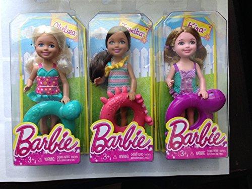 Lot of 3 Barbie: Chelsea & Tamika & Kira with Swim Ring