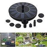Solar Powered Bird Bath Fountain, 1.4W Outdoor Garden Solar Powered Fountain Pump Panel