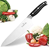 Familedge Chef Knife, 8 inch Kitchen Chef's Knife, Premium German Stainless Steel Chopping Knives Ergonomic G10 Handle