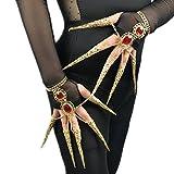 Adult Belly Dance Wrist Bangle Bracelets Peacock Dance Finger Nails Accessory