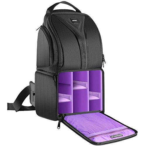 Neewer Camera Sling Backpack Case 9.8x7.9x16.9 Inch Waterproof Lightweight and Durable for DSLR and Mirrorless Camera (Canon Nikon Sony Pentax Olympus Fujifilm Panasonic) Purple