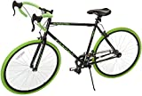 Takara Kabuto Single Speed Road Bike, Medium/54cm, Black/Green