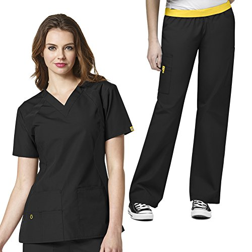 WonderWink Womens V neck Cargo Scrub